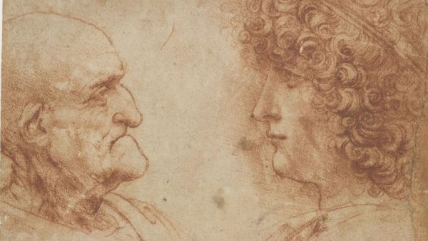 'An Old Man and a Youth Facing One Another', about 1500‑1505