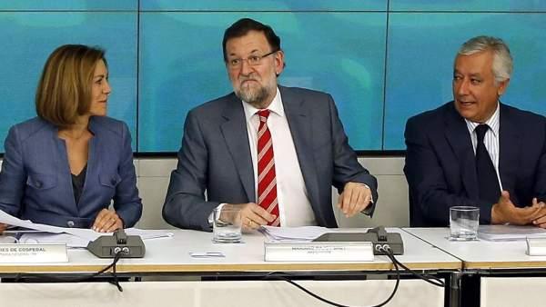 Rajoy, Cospedal y Arenas