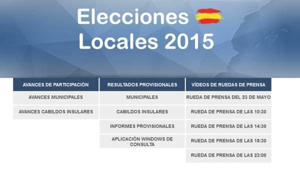 Interior admite fallos que est subsanando en la web de for Ministerio del interior elecciones