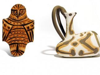 Tres cer�micas de Picasso