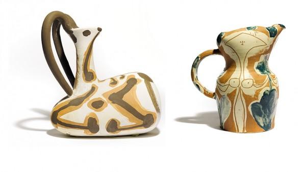 Tres cerámicas de Picasso