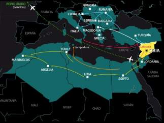 El Mediterr�neo, el eje del �xodo sirio