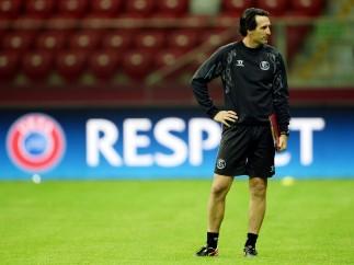 Unai Emery, antes de la final de la Europa League