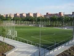 Campo de f�tbol de Arganzuela donde disputa sus partidos como local el AD Gigantes.