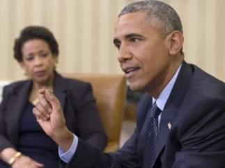 Obama con Loretta Lynch