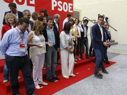 Pedro S�nchez y los 'barones' del PSOE