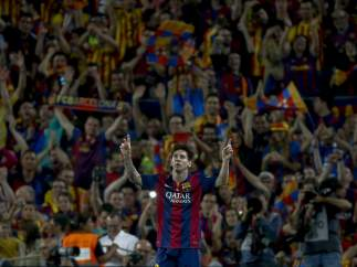 El Camp Nou, rendido a Messi