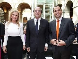 Cristina Cifuentes, Ángel Gabilondo e Ignacio Aguado