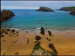 La playa de la Arnía, entre Liencres y Santander