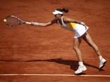 Garbiñe Muguruza, en los cuartos de final de Roland Garros