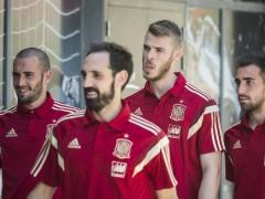 Juanfran, con la selección española