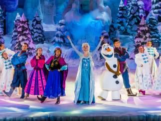 Espectáculo de Frozen en Disneyland Paris.