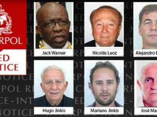 Orden de busca y captura emitida por la Interpol contra miembros de la FIFA.