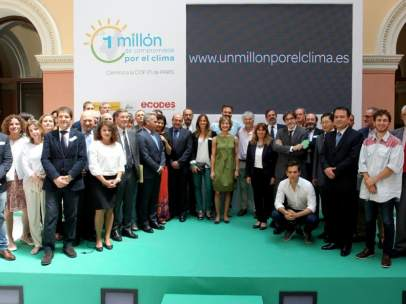 """Presentación de la campaña del Ministerio de Agricultura, Alimentación y Medio Ambiente: """"1 Millón de Compromisos por el Clima""""."""