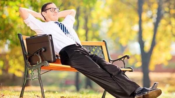 Trabajador descansando