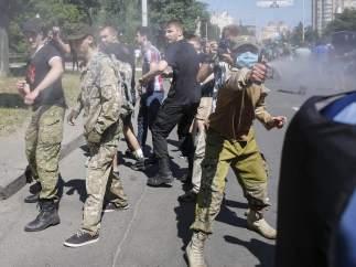 Enfrentamientos en el orgullo gay de Kiev