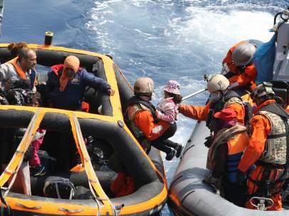 Rescate de inmigrantes