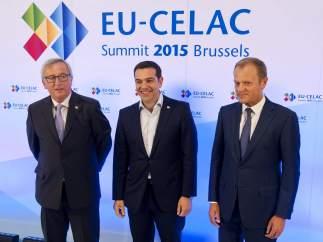 Alexis Tsipras junto con Jean-Claude Juncker Jean-Claude Juncker