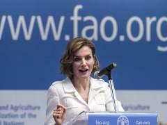 La reina Letizia en su discurso de presentación como embajadora de FAO.