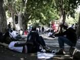 Campamento de inmigrantes en Italia