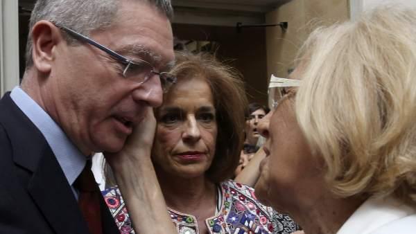 Gallardón y Botella, con Carmena