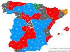 Mapa de los ayuntamientos