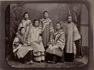 Group portrait with Courtesans, Anonymous, Shanghai, c. 1885