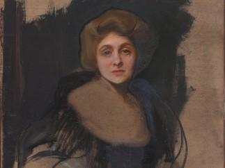 Philip Alexius de L�szl� - Portrait of the Viscountess Lee of Fareham (recto), 1912