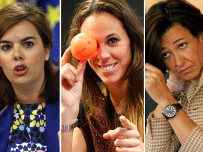 Soraya Sáenz de Santamaría, Amaya Valdemoro y Ana Patricia Botín
