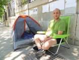 Manuel Puertas, trabajador granadino en huelga de hambre.