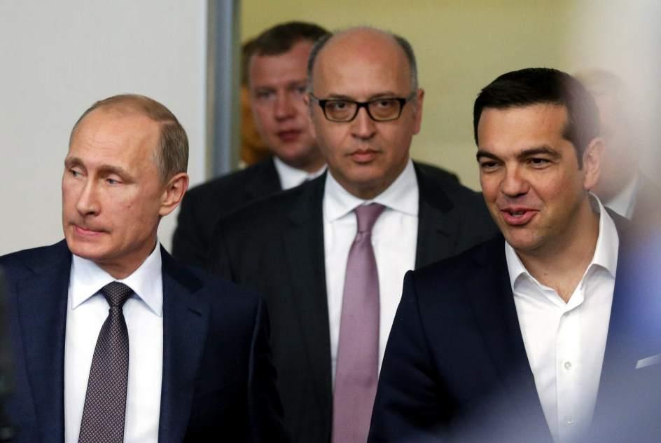 Encuentro entre Putin y Tsipras en San Petersburgo