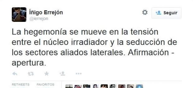 Íñigo Errejón revoluciona Twitter con un críptico mensaje