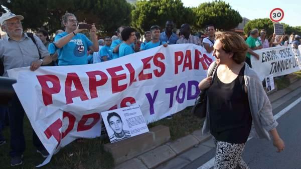 Manifestación contra el CIE
