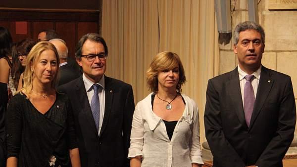 Artur Mas con los consellers