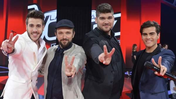Los cuatro finalistas de 'La Voz 3'.