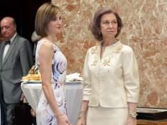 La Reina Letizia y doña Sofía
