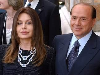 Silvio Berlusconi y su exmujer, Veronica Lario