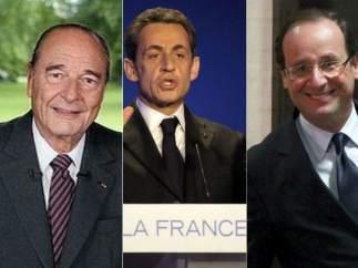 Chirac, Sarkozy y Hollande