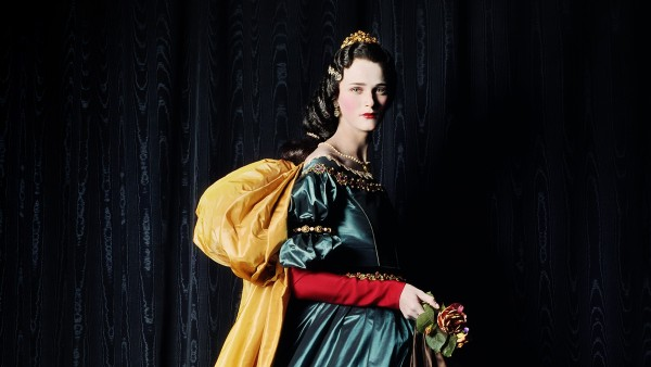 MICHAEL THOMPSON - Carmen as Zurbarán's Santa Isabel, 2000, Model: Carmen Kass