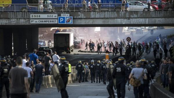 Protestas contra Uber en Francia