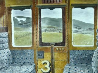 Eric Ravilious, Train Landscape, 1940