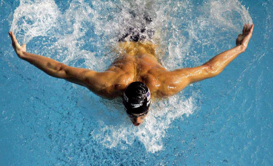 Michael phelps swimming butterfly wallpaper