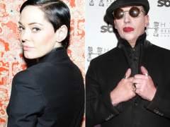 Rose McGowan y Marilyn Manson