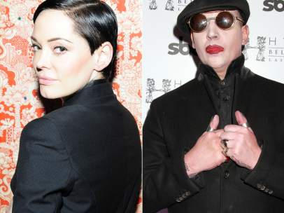 Rose McGowan y Marilyn Manson