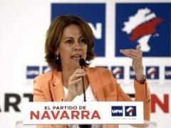 Yolanda Barcina anuncia su dimisi�n como presidenta de UPN