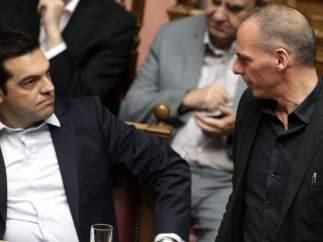 Tsipras y Varufakis