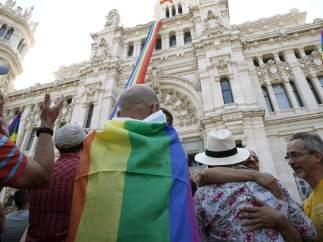 Bandera en el Ayuntamiento de Madrid
