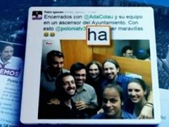 TVE destaca en el Telediario una falta de ortograf�a de Pablo Iglesias