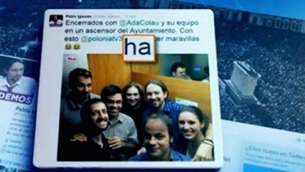 El Telediario señala una falta de Pablo Iglesias