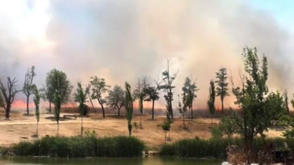 Incendio en el Parque Butarque
